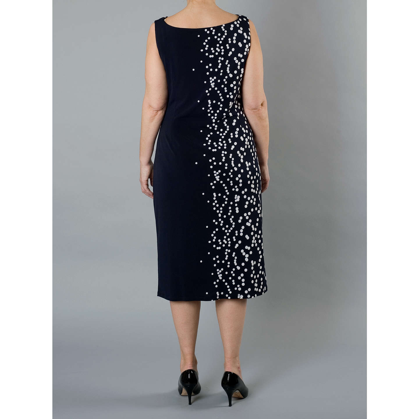 BuyChesca Spot Dress, Navy/White, 12 Online at johnlewis.com