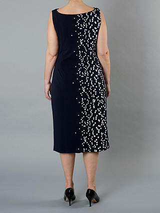Buy Chesca Spot Dress, Navy/White, 12 Online at johnlewis.com