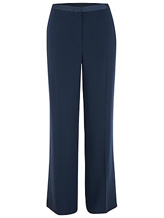 Chesca Satin Back Trousers, Navy