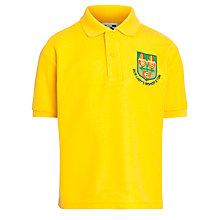 Buy Our Lady's Bishop Eton Primary School Polo Shirt, Sunflower Online at johnlewis.com