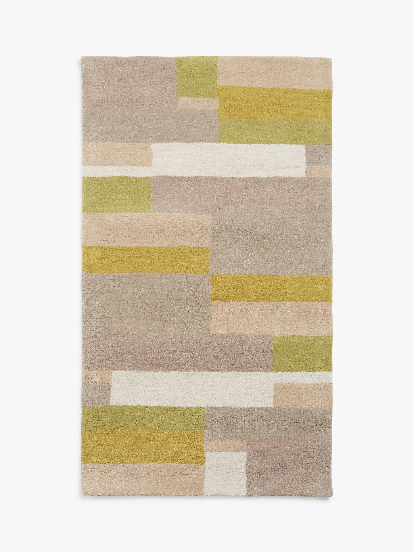 Buy John Lewis & Partners Grid Rug, Fennel, L140 x W80cm Online at johnlewis.com