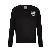 Buy Little Heath Upper School V-Neck Jumper, Black Online at johnlewis.com