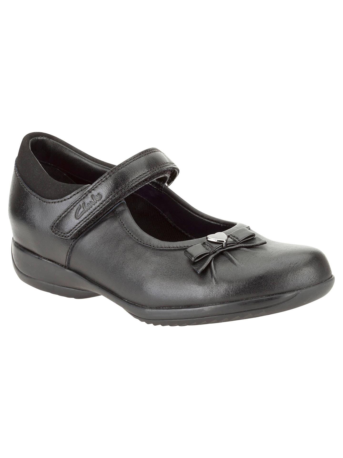 71683fd5de3e9 Buy Clarks Daisy Gleam Leather Mary Jane Shoes, Black, 10E Jnr Online at  johnlewis ...