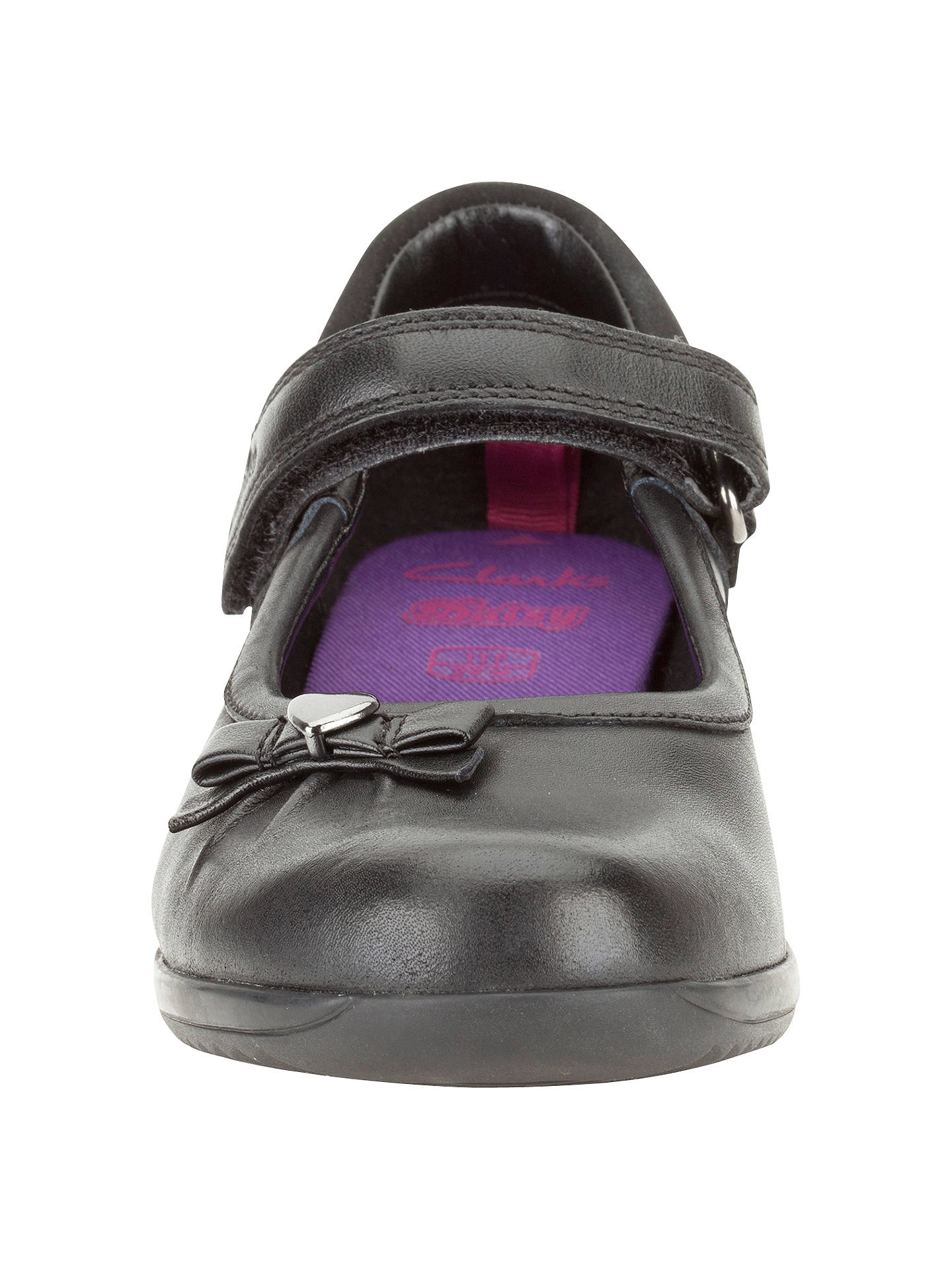 d702cd50f1a98 ... Buy Clarks Daisy Gleam Leather Mary Jane Shoes, Black, 10E Jnr Online  at johnlewis ...