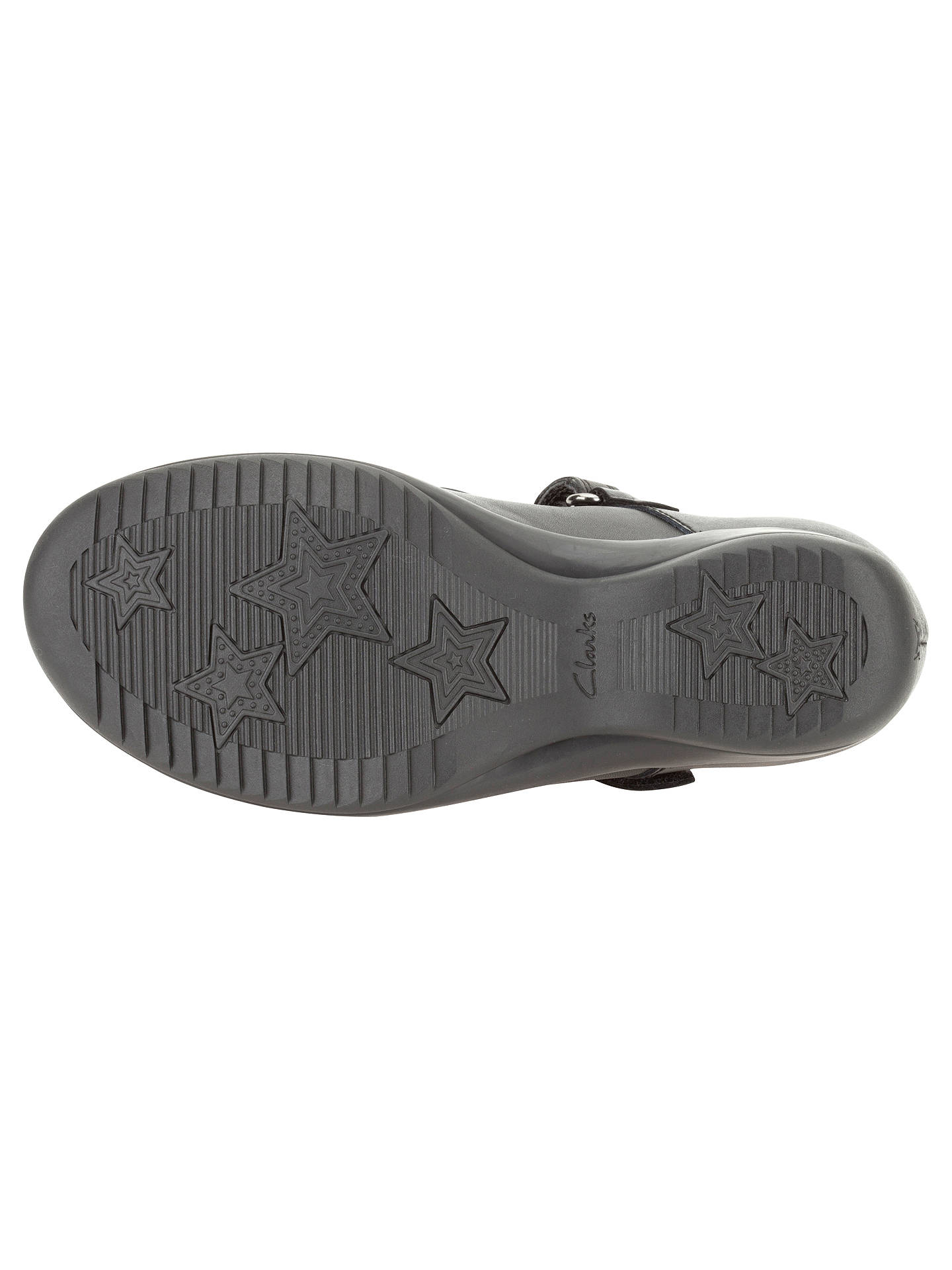 9853d41cd4977 ... Buy Clarks Daisy Gleam Leather Mary Jane Shoes, Black, 10E Jnr Online  at johnlewis