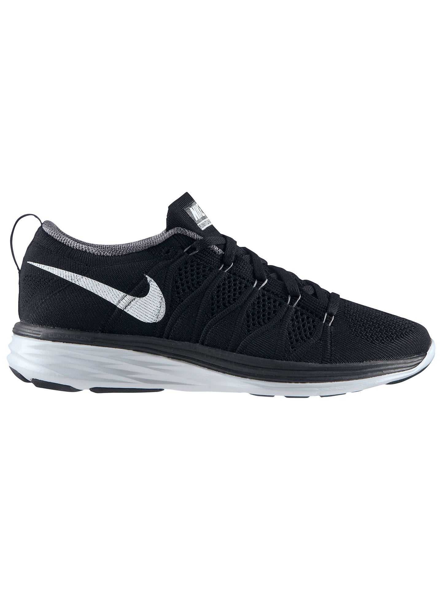 the latest 3f31d 0c06d Buy Nike Flyknit Lunar 2 Women s Running Shoes, Black White, 4.5 Online at  ...