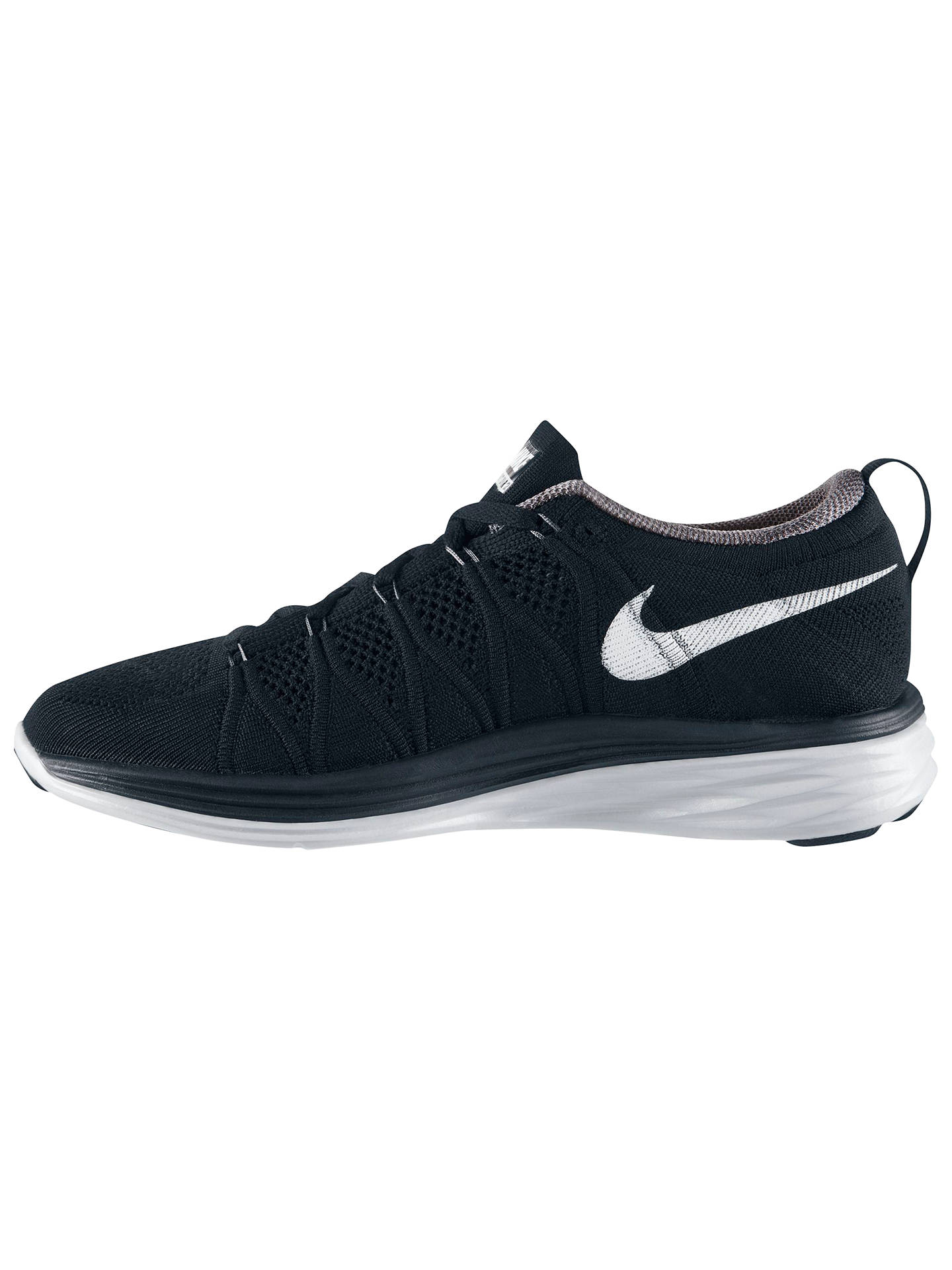 promo code bc9fa 2f1e0 ... Buy Nike Flyknit Lunar 2 Women s Running Shoes, Black White, 4.5 Online  at ...