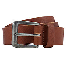 Buy John Lewis Boy Leather Belt, Tan Online at johnlewis.com