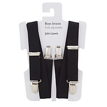 Buy John Lewis Boy Fully Adjustable Braces, One Size, Black Online at johnlewis.com