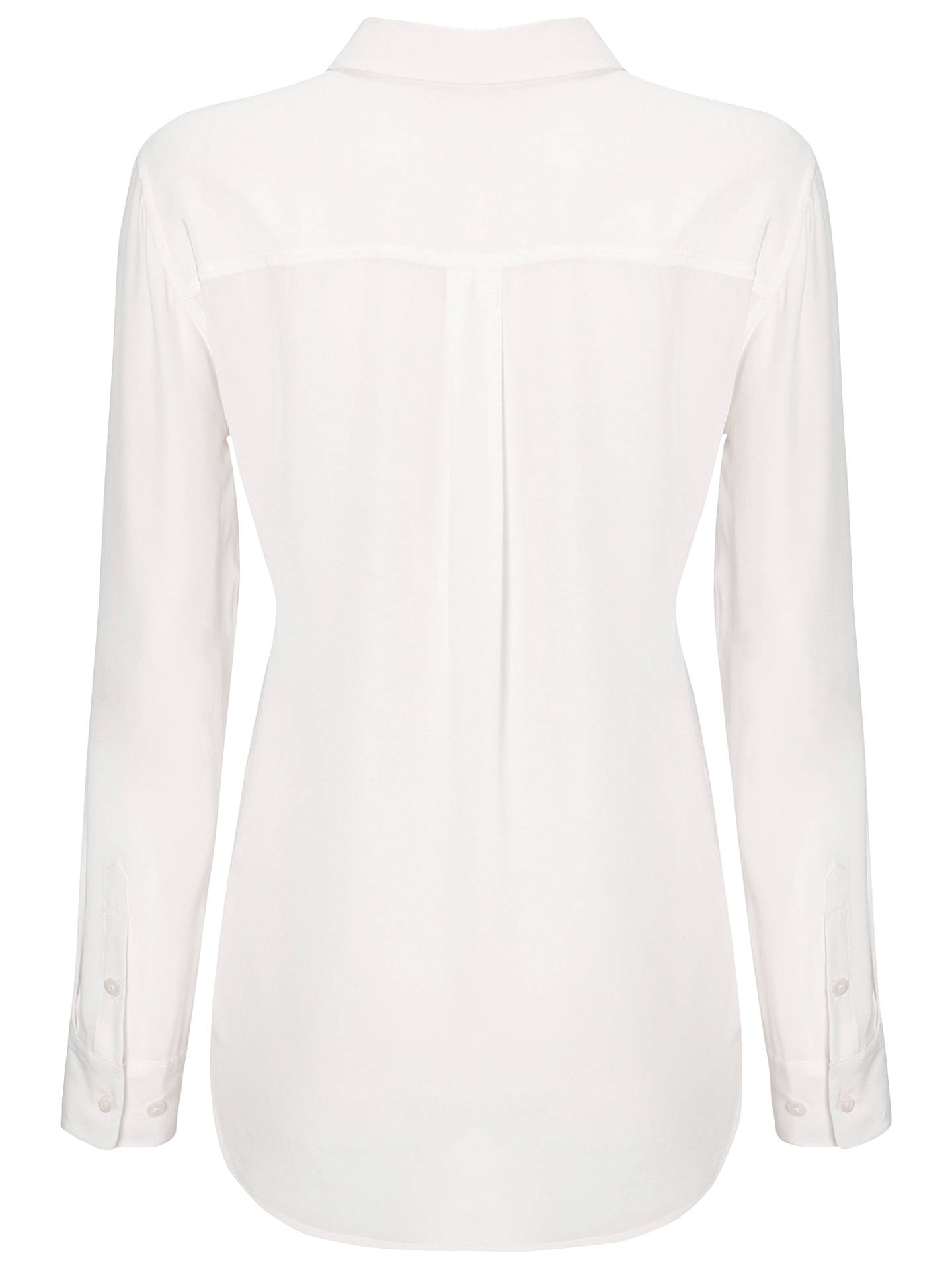 Buy Jaeger Patch Pocket Silk Blouse, Ivory, XS Online at johnlewis.com