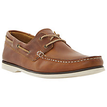Buy Bertie Battleship Leather Boat Shoes, Tan Online at johnlewis.com