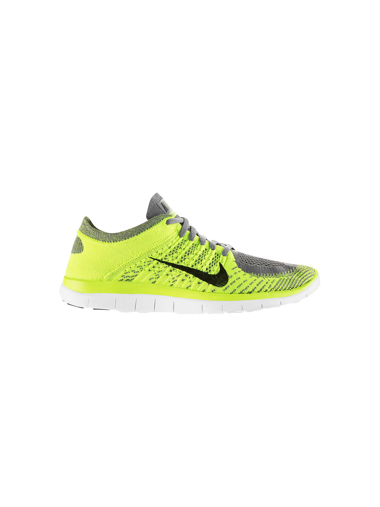vamos a hacerlo suspender profesional  Nike Free Men's 4.0 Flyknit Running Shoes, Yellow/Grey at John Lewis &  Partners