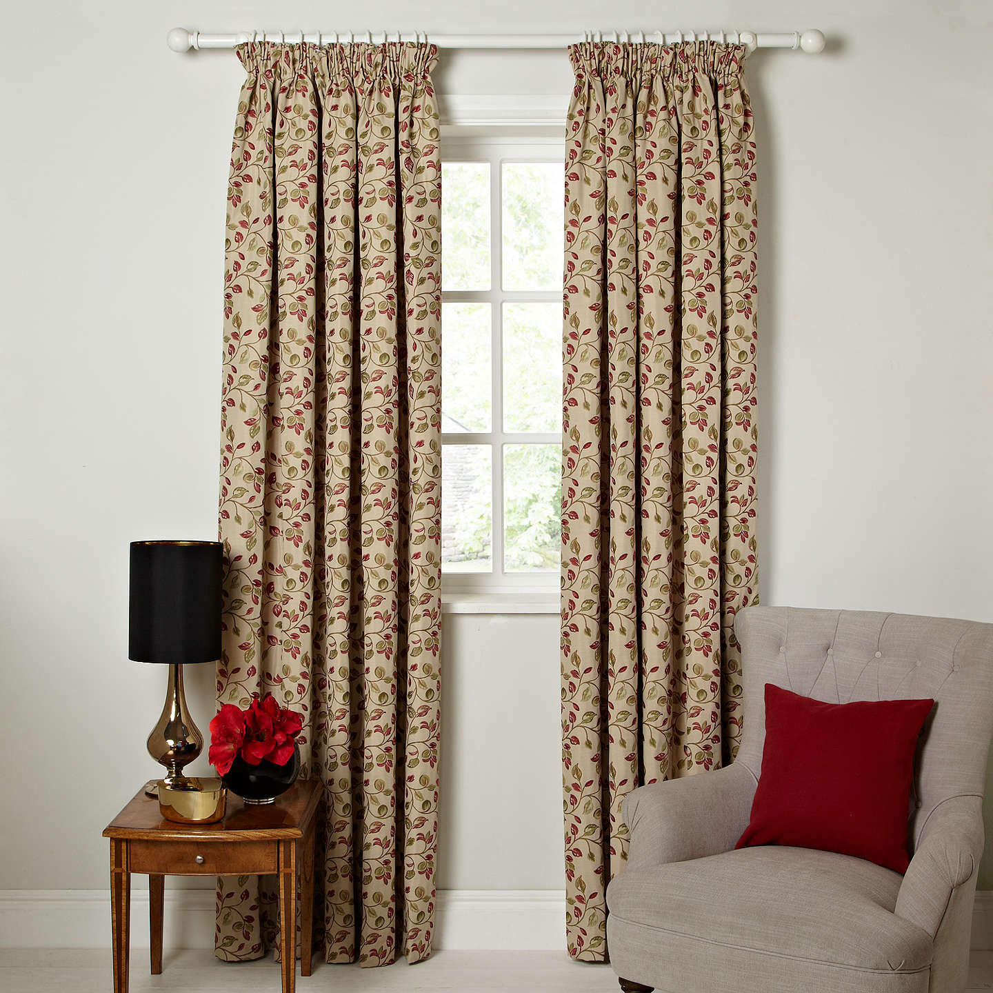 com living red great room peenmedia for curtains patterned