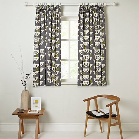 Buy John Lewis Seedheads Lined Pencil Pleat Curtains John Lewis - John lewis curtains grey