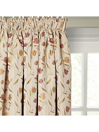 John Lewis & Partners Tulips Pair Lined Pencil Pleat Curtains