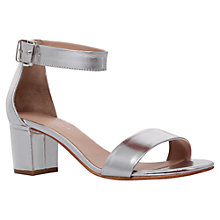 Buy Carvela Krisp Leather Block Heeled Sandals Online at johnlewis.com