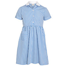 Buy Westville House School Girls' Summer Dress, Blue/White Online at johnlewis.com