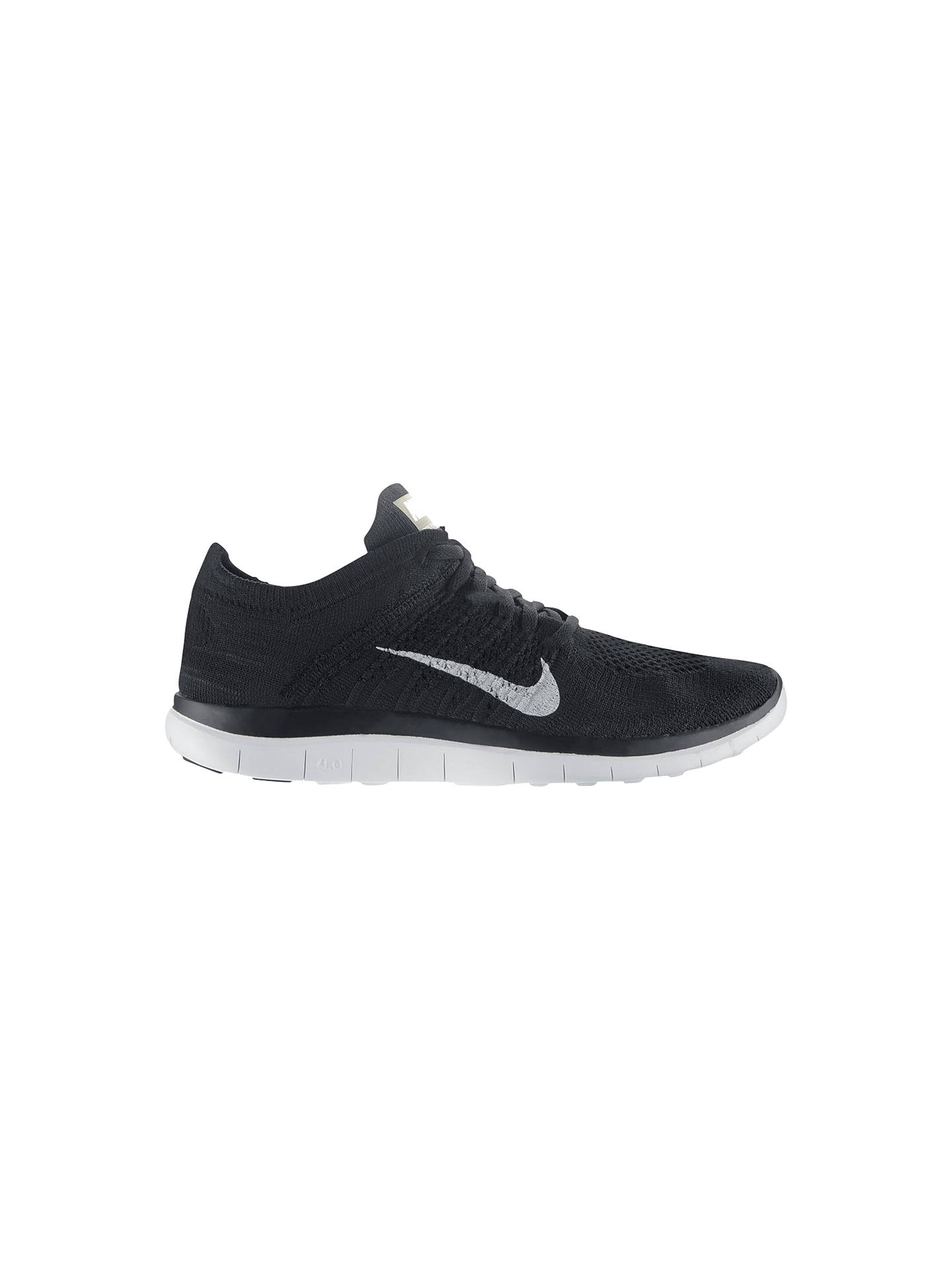 promo code 96a0e 5864f Buy Nike Free 4.0 Flyknit Women s Running Shoes, Black, 4 Online at  johnlewis.