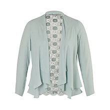 Buy Chesca Daisy Lace Chiffon Shrug, Opal Online at johnlewis.com