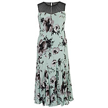 Buy Chesca Mesh Yoke Poppy Dress, Opal Online at johnlewis.com