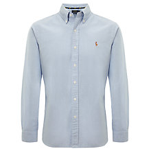 Buy Polo Ralph Lauren Cotton Oxford Slim Fit Shirt, Sky Online at johnlewis.com