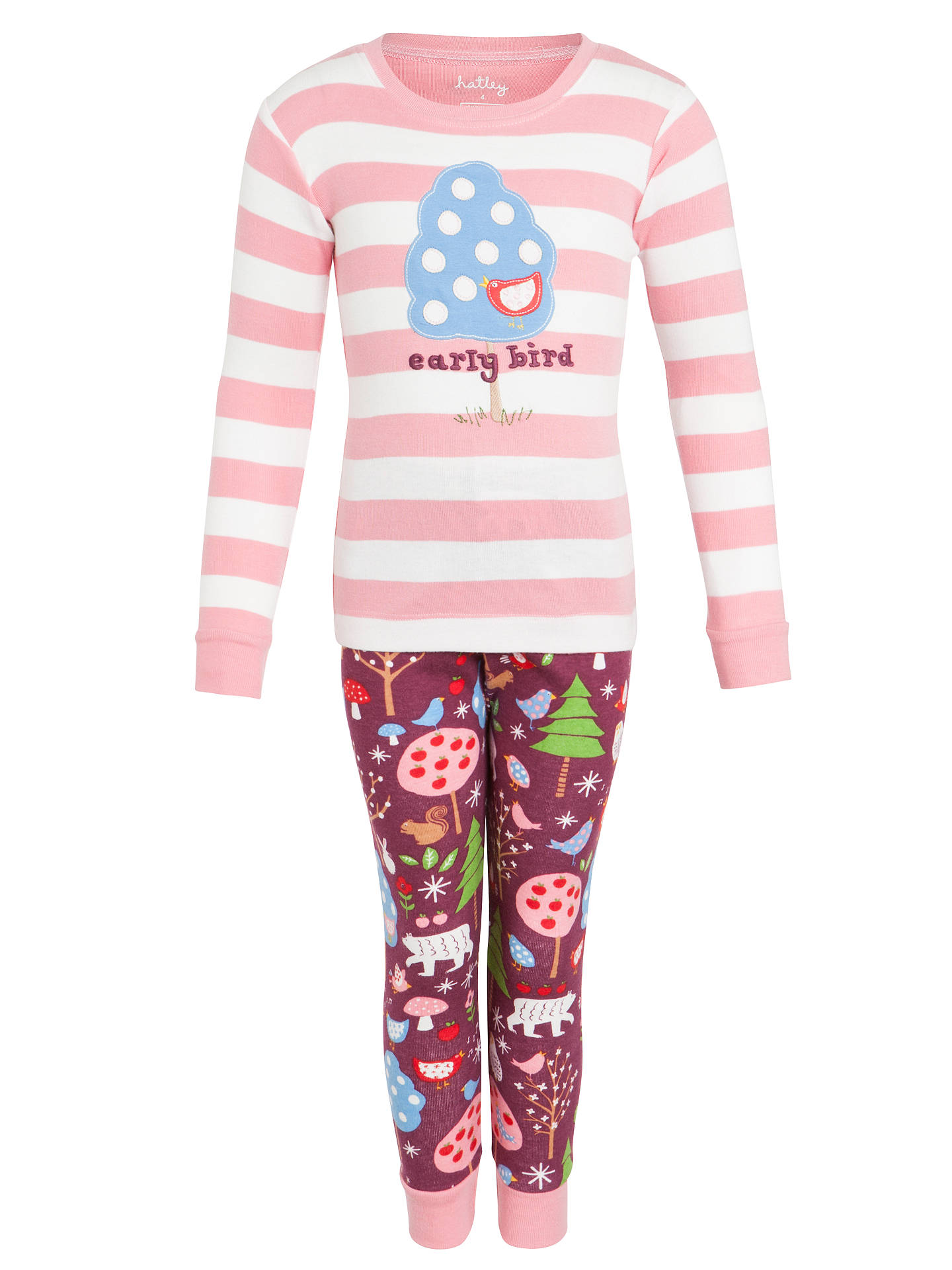 d3a4ef3676 BuyHatley Girls  Stripe Bird Pyjamas