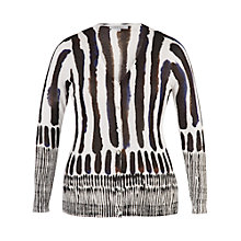 Buy Chesca Brush Stroke Print Cardigan, White Online at johnlewis.com