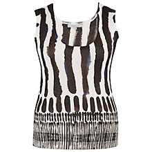 Buy Chesca Brush Stroke Print Camisole, White Online at johnlewis.com