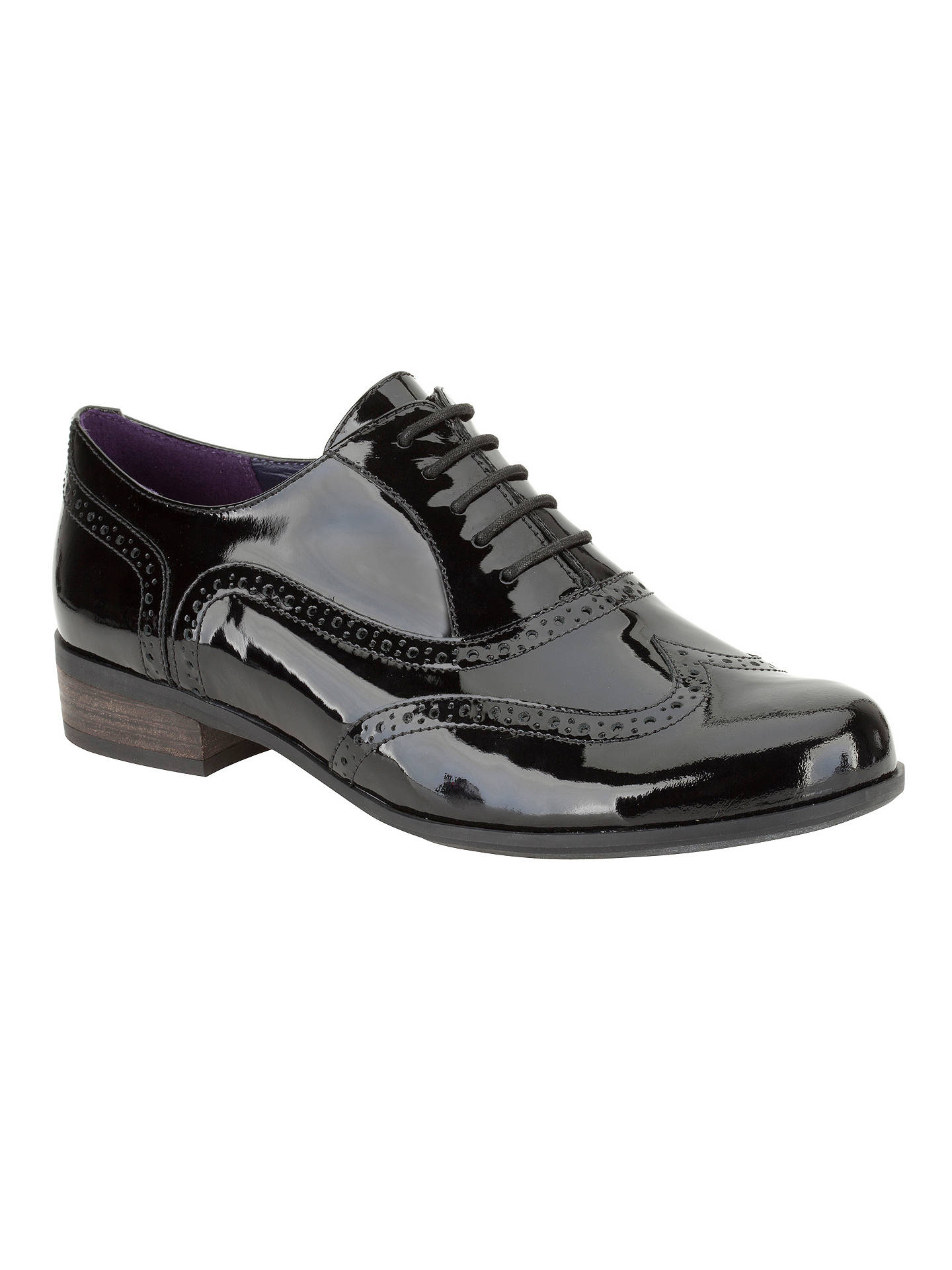Patent Hamble Brogue John At Lewis Clarks Oak Shoes Black Leather 1aYngqwO