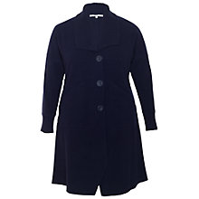 Buy Chesca Ribbed Collar Wool Coat, Navy Online at johnlewis.com