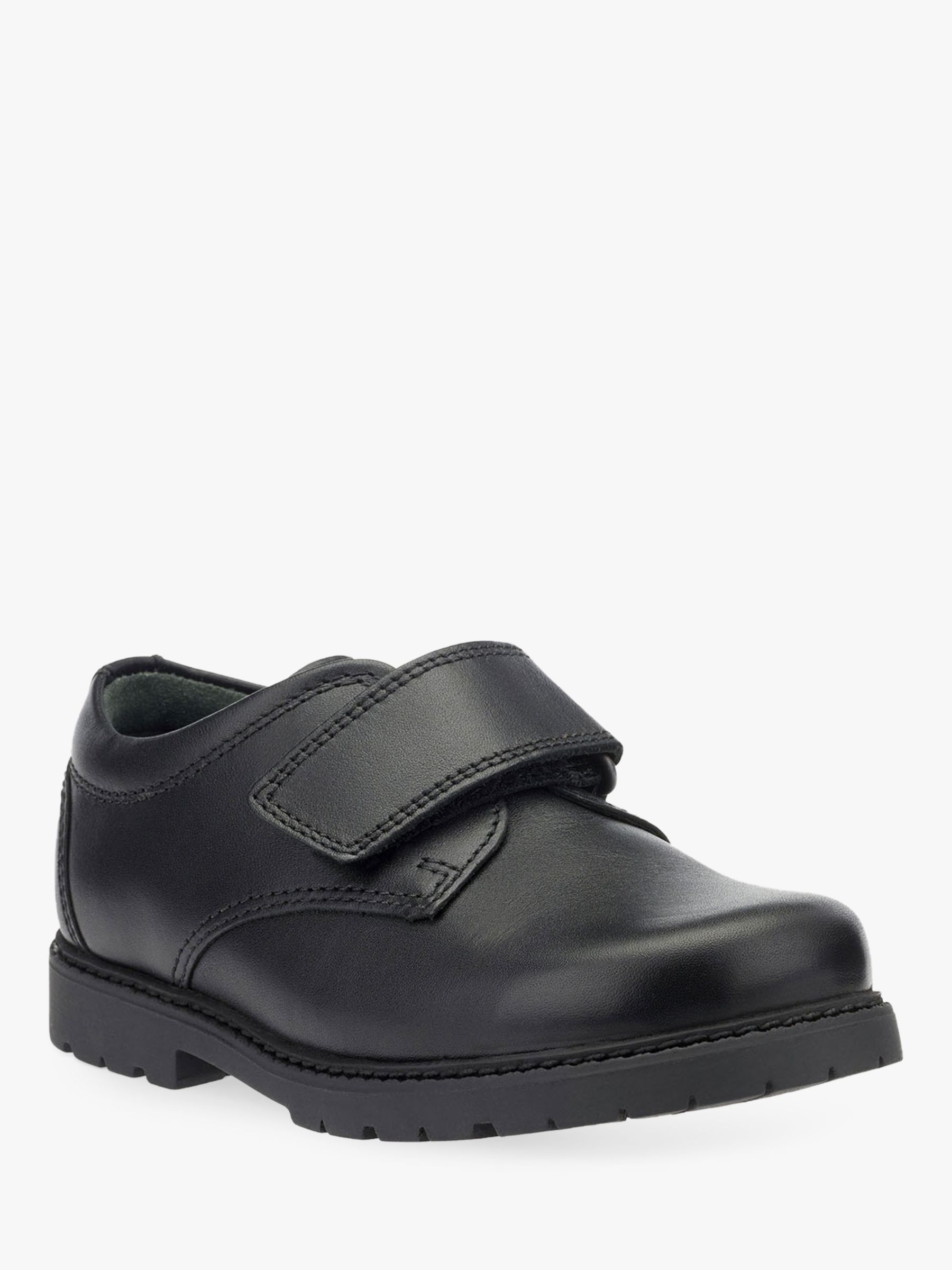 Start-Rite Start-rite Will Leather Riptape Shoes, Black