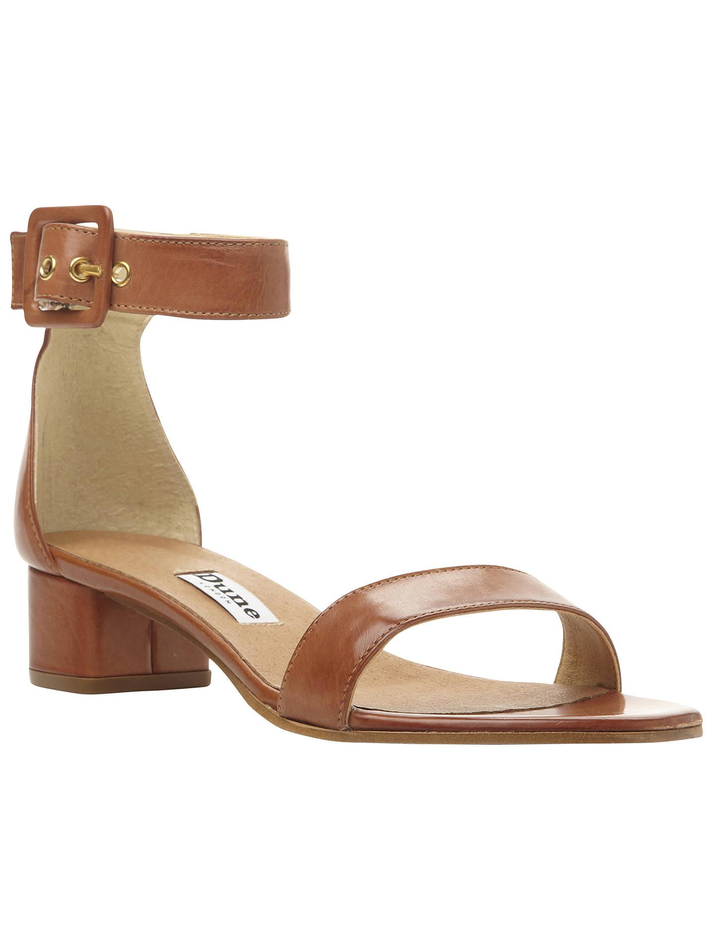 e42afbb0baa Buy Dune Fran Two Part Block Heel Sandals, Tan, 3 Online at johnlewis.