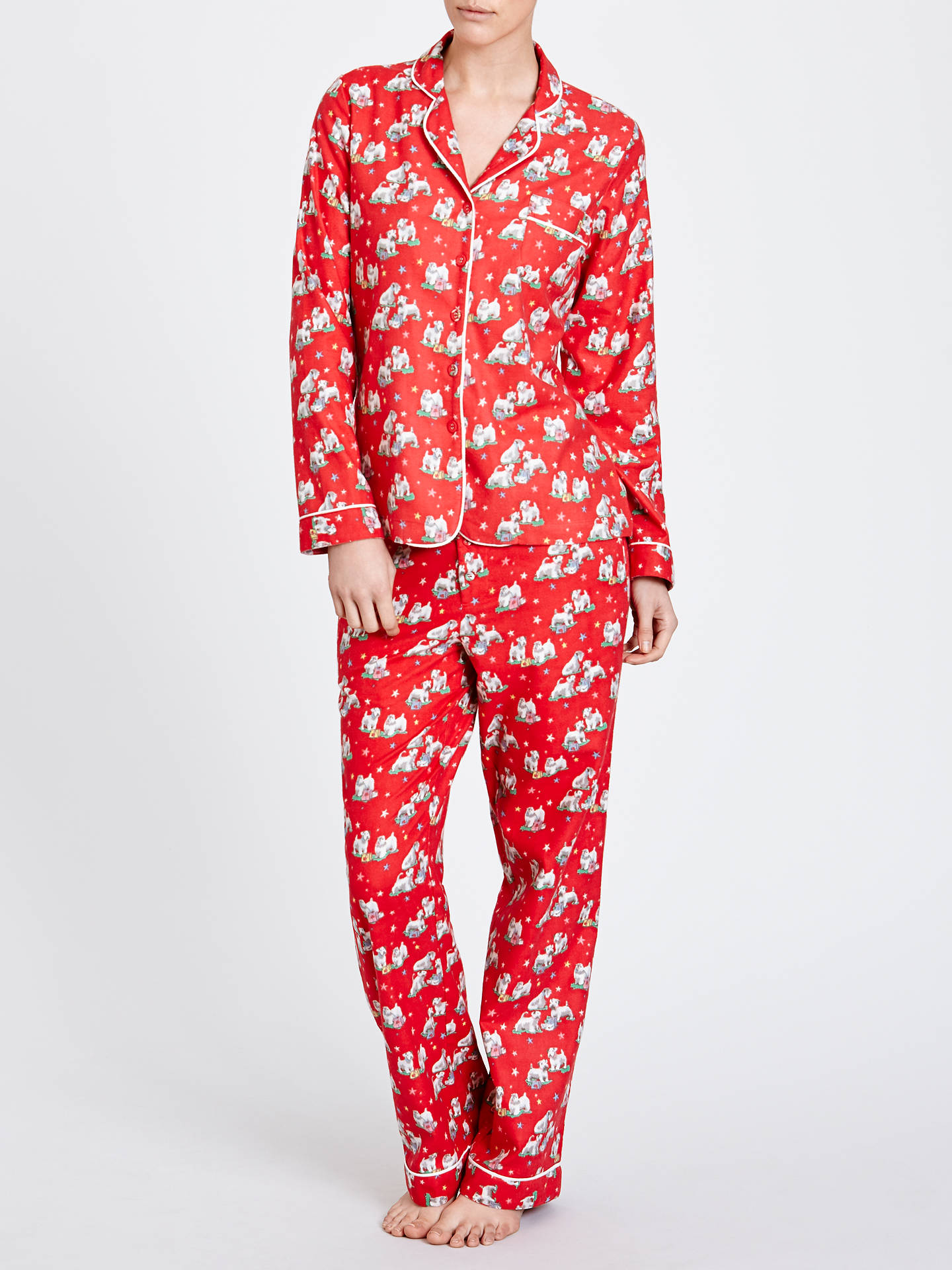 new lifestyle performance sportswear great discount Cath Kidston Christmas Billie Print Pyjama Gift Set, Red at ...