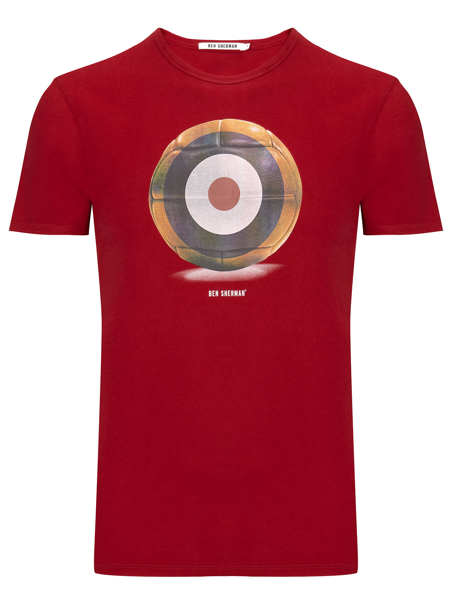 trolebús virar entrenador  Ben Sherman Target Football T-Shirt at John Lewis & Partners