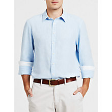 Buy Thomas Pink Malcolm Long Sleeve Linen Shirt Online at johnlewis.com