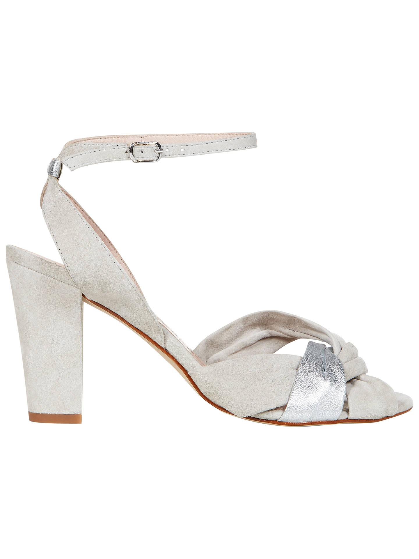 eaf024b0d8 Buy NW3 by Hobbs Fleur Sandals, Grey Silver, 3 Online at johnlewis.com ...