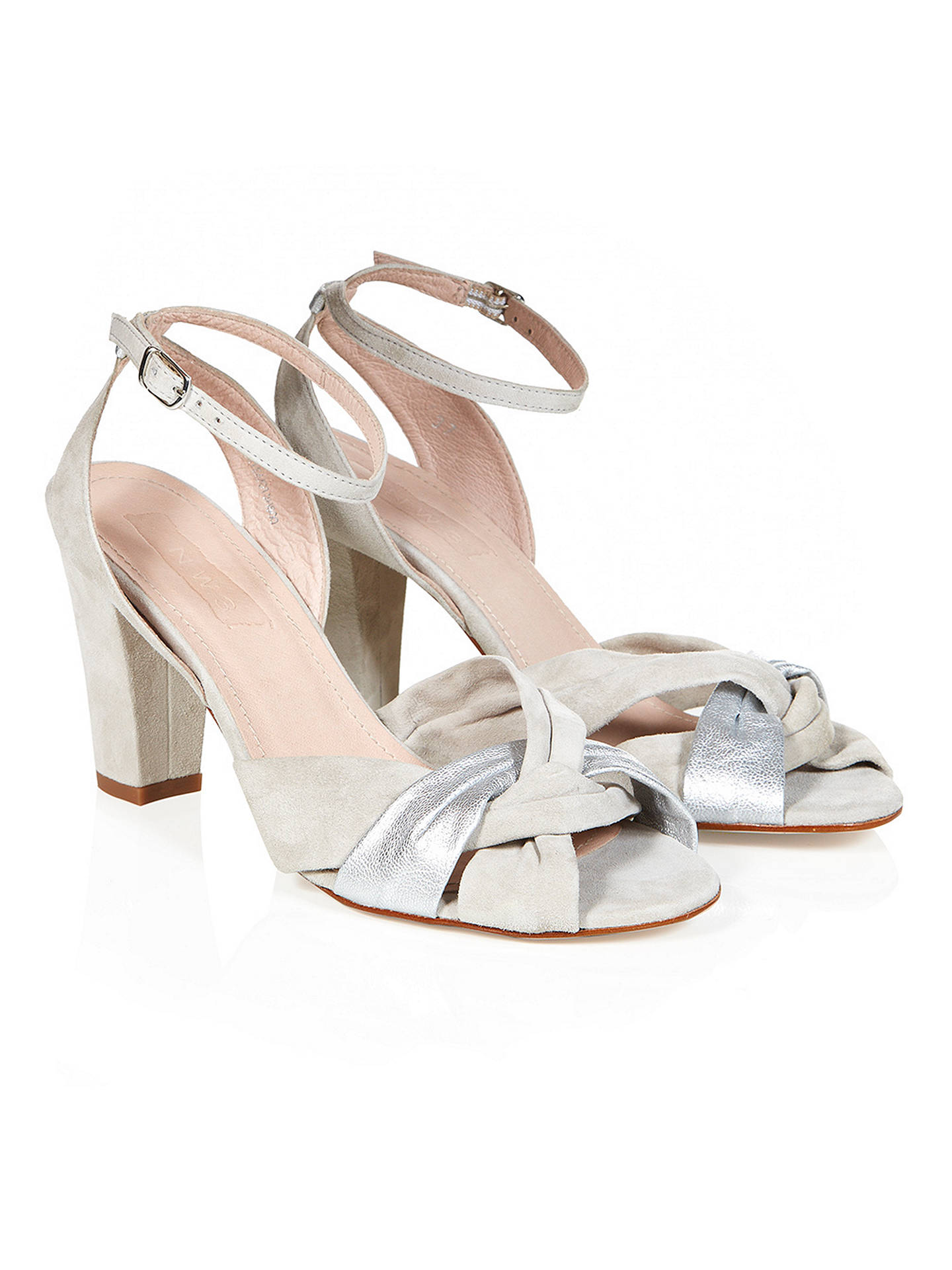 f0fb3d73a5 ... Buy NW3 by Hobbs Fleur Sandals, Grey Silver, 3 Online at johnlewis.com  ...