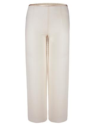 Chesca Satin Trim Chiffon Trousers, Cream
