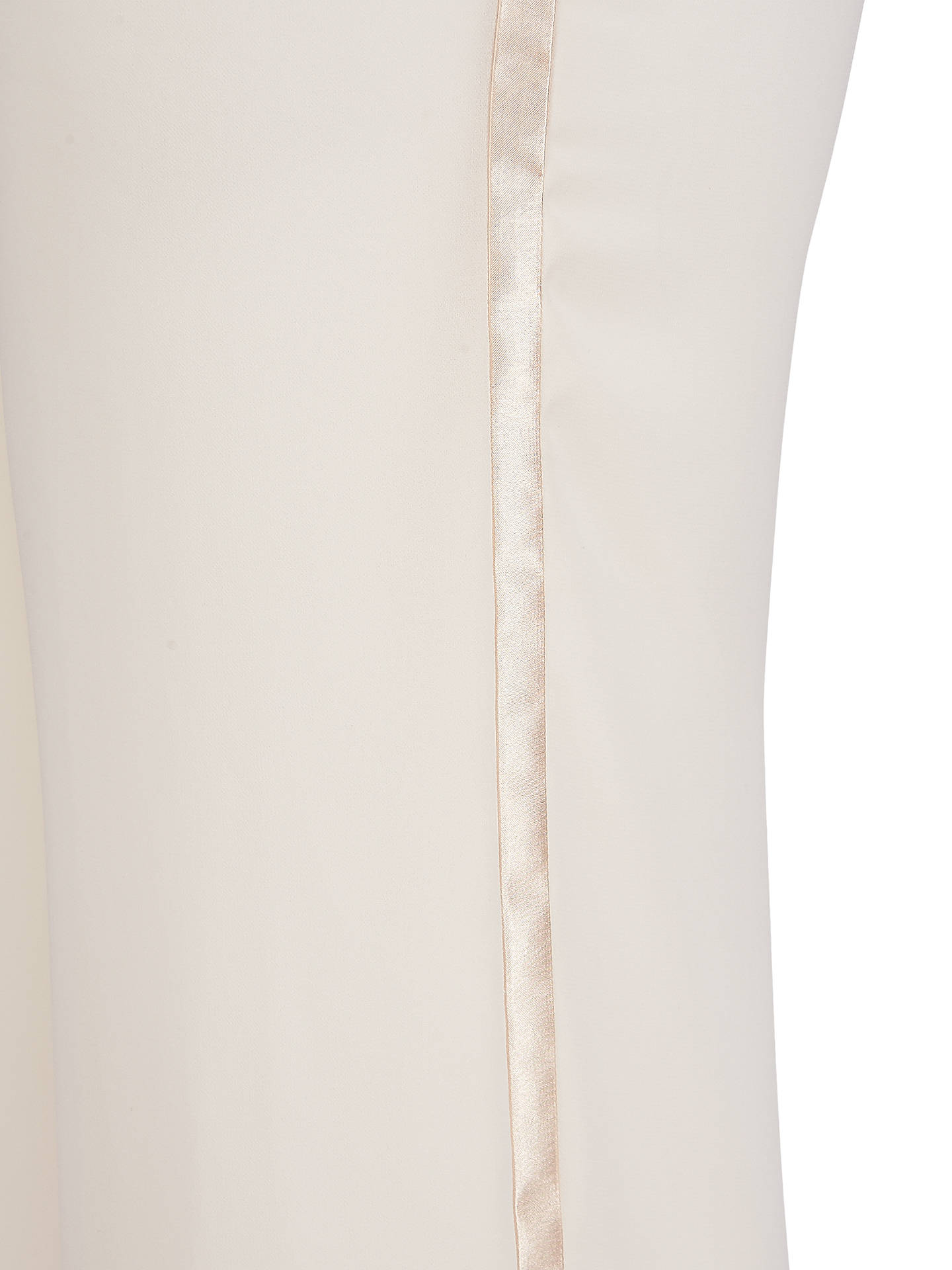 Buy Chesca Satin Trim Chiffon Trousers, Cream, 12 Online at johnlewis.com