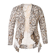 Buy Chesca Scribble Print Shrug, Ivory/Mocha Online at johnlewis.com