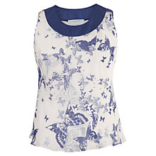 Buy Chesca Butterfly Print Silk Camisole, Ivory/Blue Online at johnlewis.com