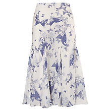 Buy Chesca Butterfly Print Silk Skirt, Ivory/Navy Online at johnlewis.com