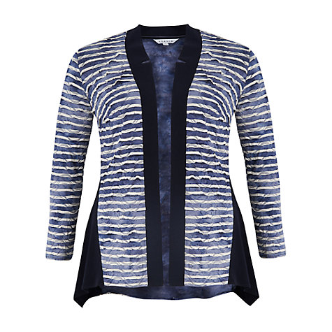 Buy Chesca Tie Dye Stripe Fancy & Plain Jersey Cardigan, Navy Online at johnlewis.com