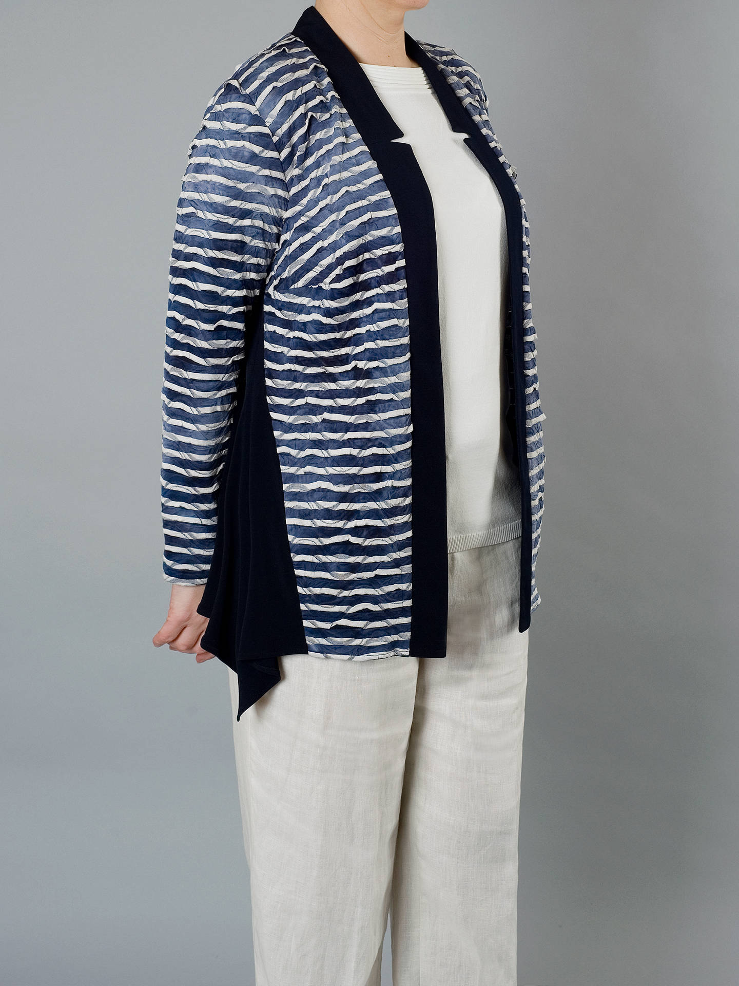 BuyChesca Tie Dye Stripe Fancy & Plain Jersey Cardigan, Navy, 12-14 Online at johnlewis.com