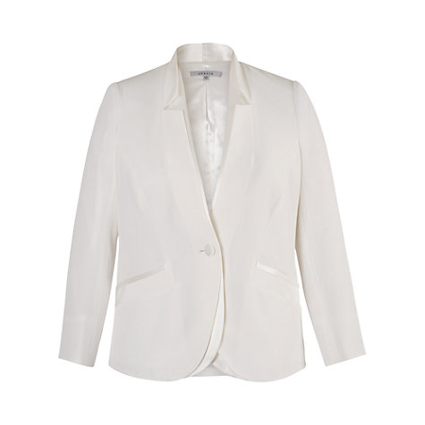 Buy Chesca Notch Neck Satin Back Jacket, Ivory Online at johnlewis.com