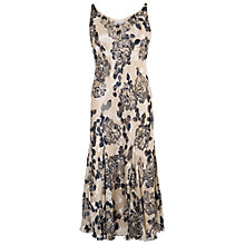 Buy Chesca Applique Embroidered Floral Devoree Dress, Vanilla/Navy Online at johnlewis.com