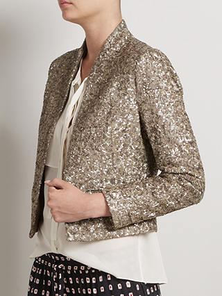 Buy Somerset by Alice Temperley Sequin Jacket, Gold, 8 Online at johnlewis.com