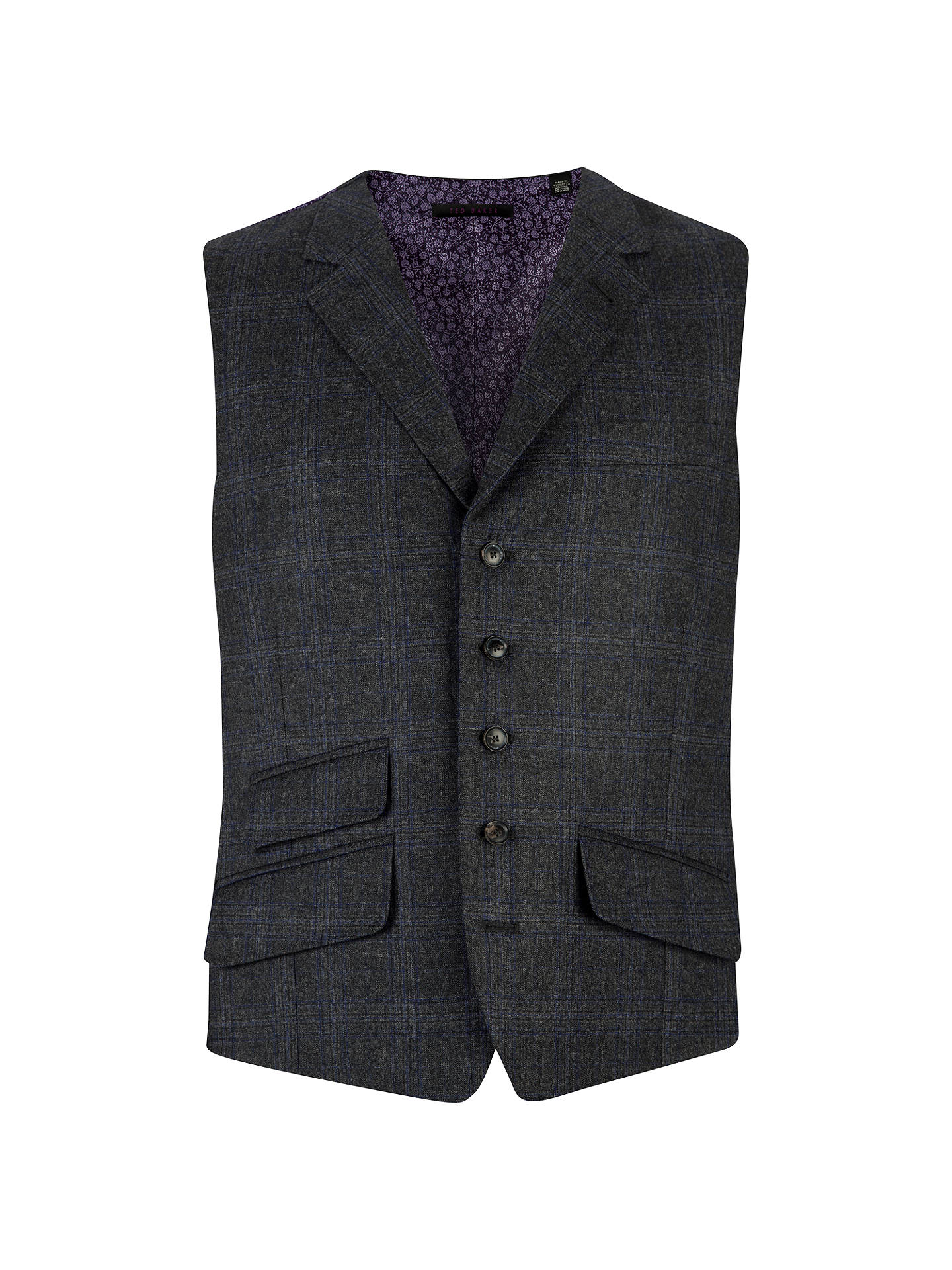 79188a299 Buy Ted Baker Endurance Flannel Overcheck Tailored Waistcoat