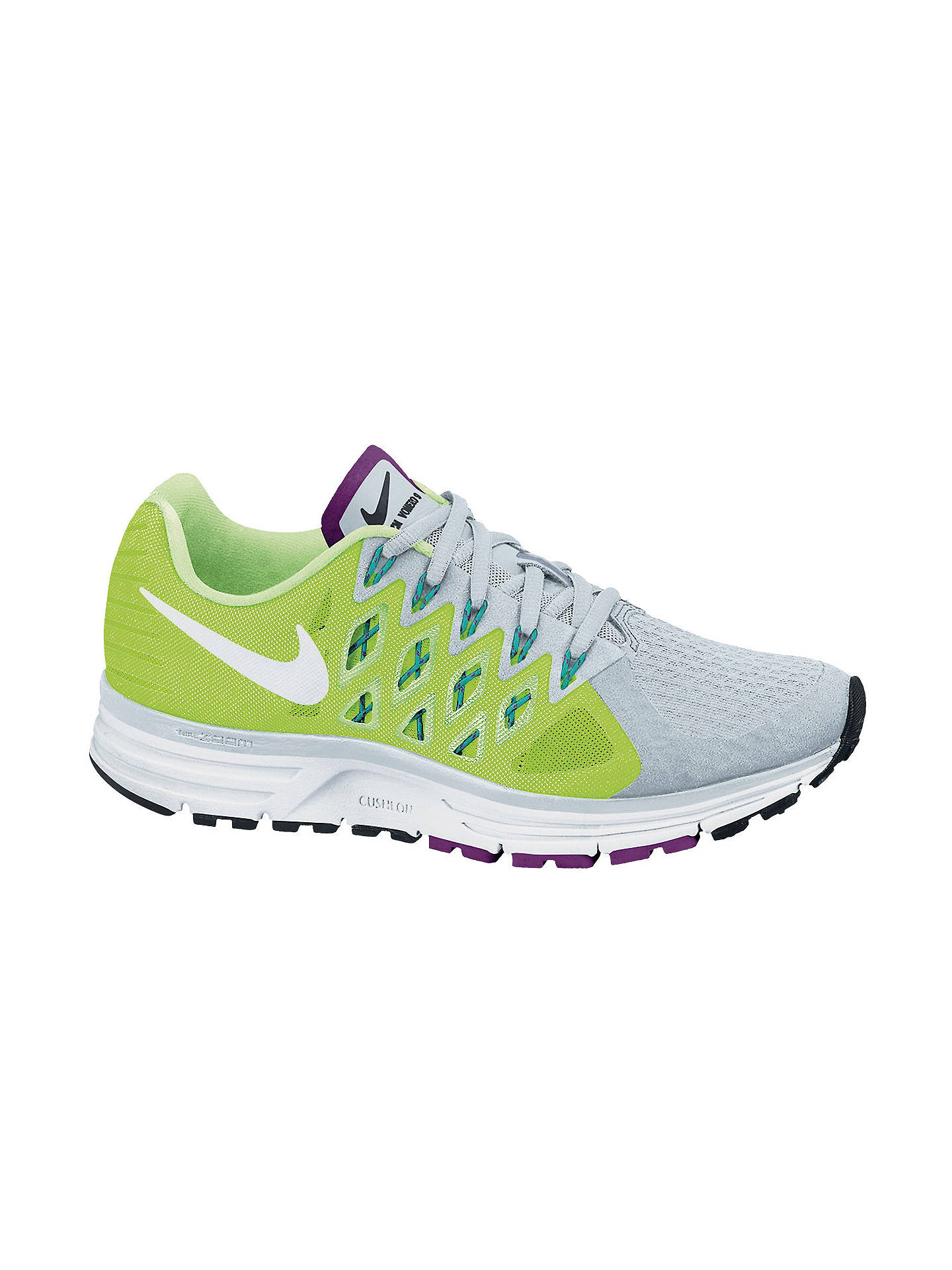 size 40 cd325 ef11a Buy Nike Zoom Vomero 9 Women s Running Shoes, Light Green Grey, 4 Online