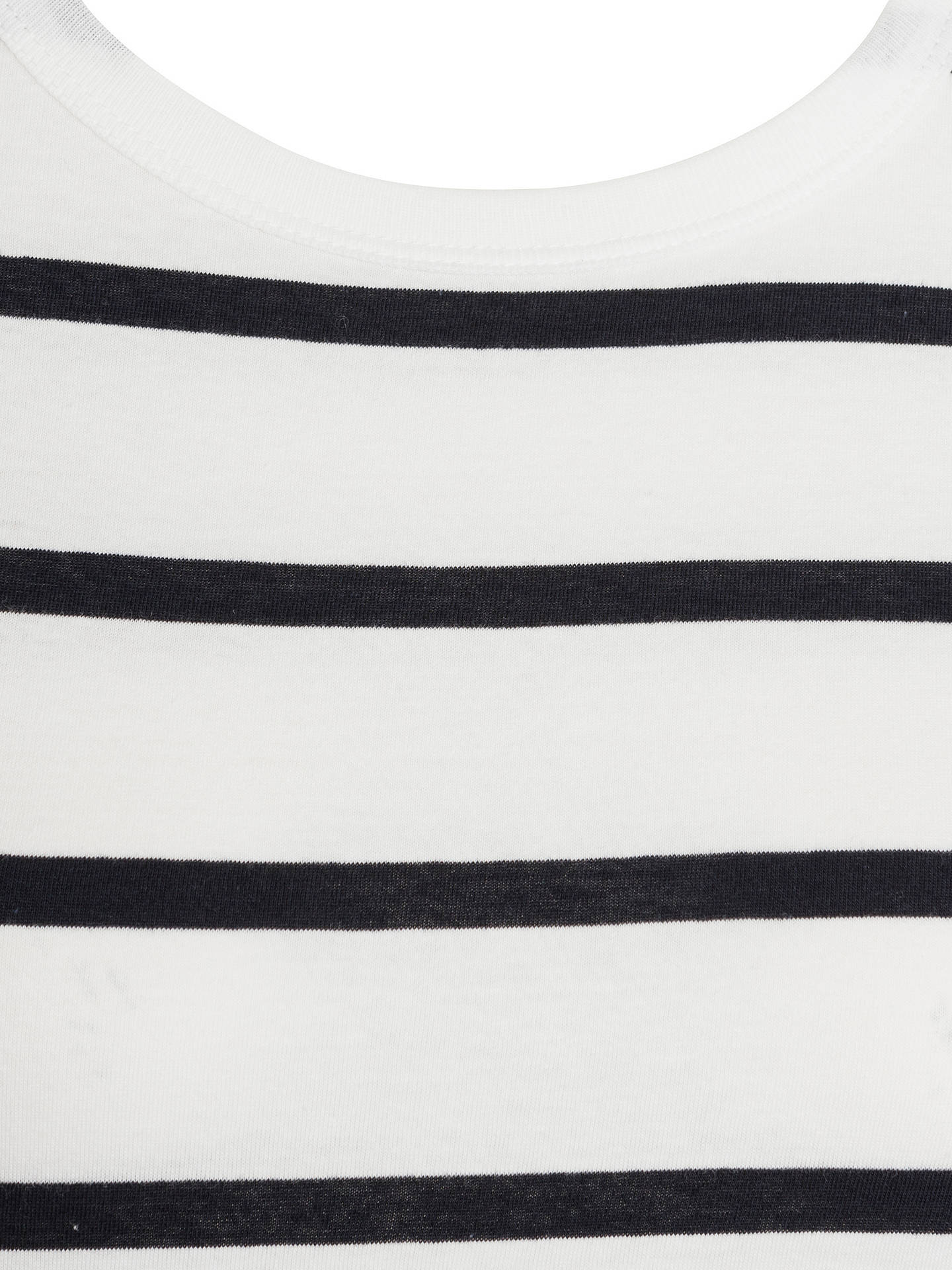 Buy John Lewis Zip Back Breton Stripe Top, White/Navy, 8 Online at johnlewis.com